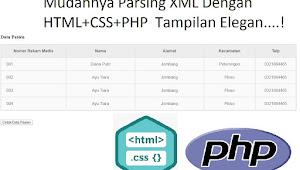 Parsing Data XML Dengan PHP HTML + CSS Tabel Jadi Elegan
