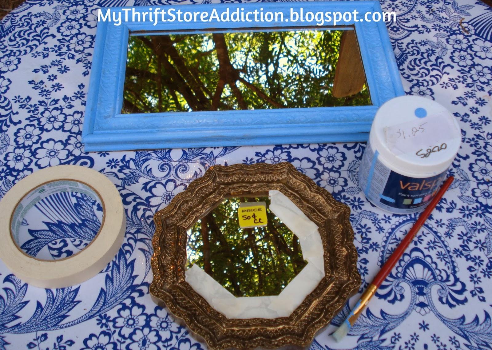 Thrift store Mirror Garden Vignette