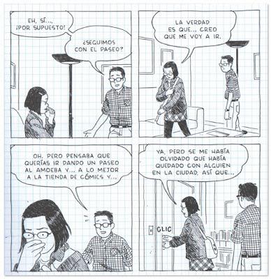 Página comic La soledad del dibujante de Adrian Tomine