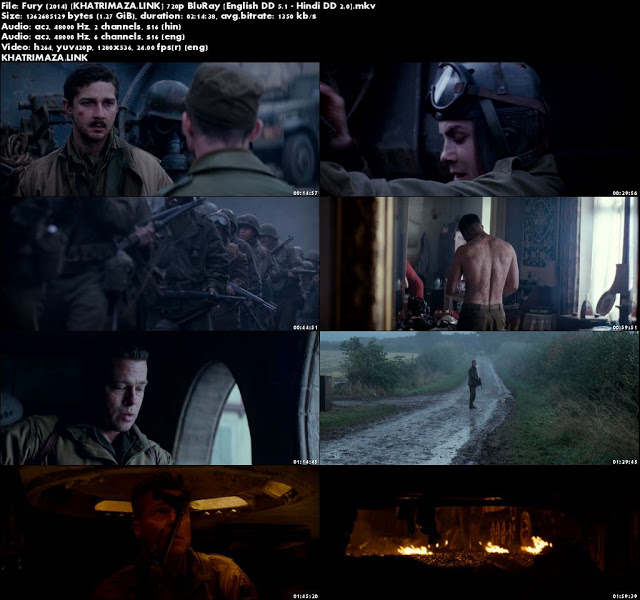Fury 2014 Hindi Dubbed Movie screenshots