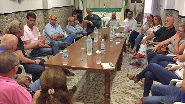 Reunión en Villamartín de AxSí en la Síerra de Cádiz