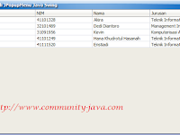 Belajar Java - Cara Menambahkan JPopupMenu Pada JTable