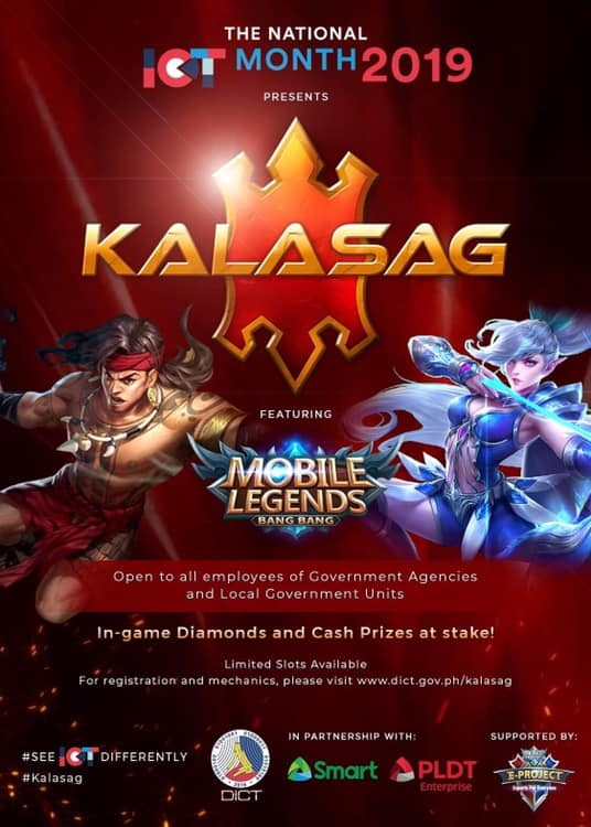 "DICT Announces ""Kalasag"" Mobile Legends Tournament for Gov't Employees"