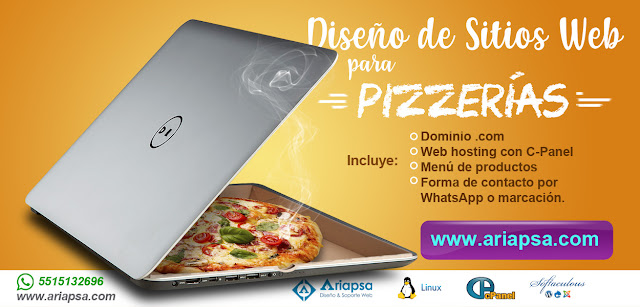 Diseño de sitios web para pizzerias