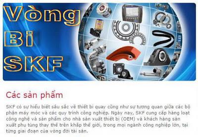 Bảng tra cứu vòng bi SKF