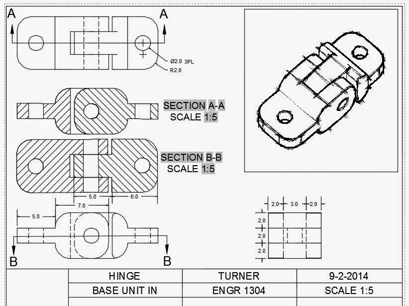 ENGR1304: Chapter 4: Sectional Views & Practice Cube Tests