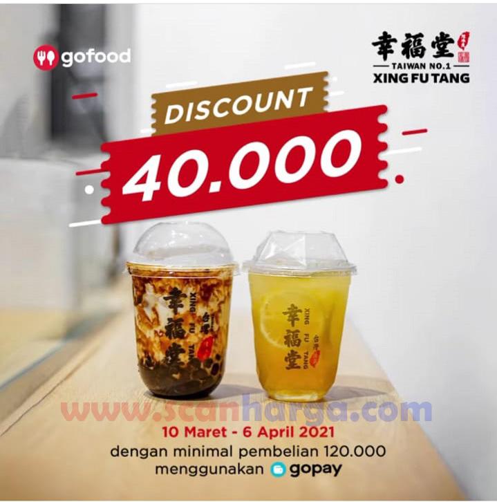 XING FU TANG Promo DISKON Rp. 40.000 pemesanan via Aplikasi GOFOOD