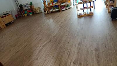 Dự án sàn nhựa M803 ở Trường Tiểu học Thăng Long Kidsmart