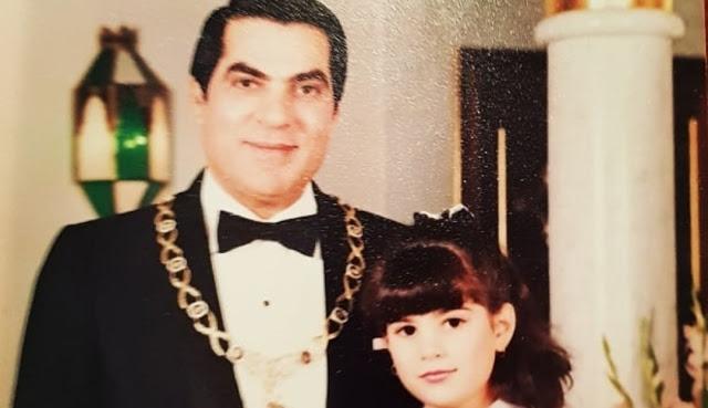 نسرين بن علي تنشر ألبوم صور نادرة لوالدها الراحل !