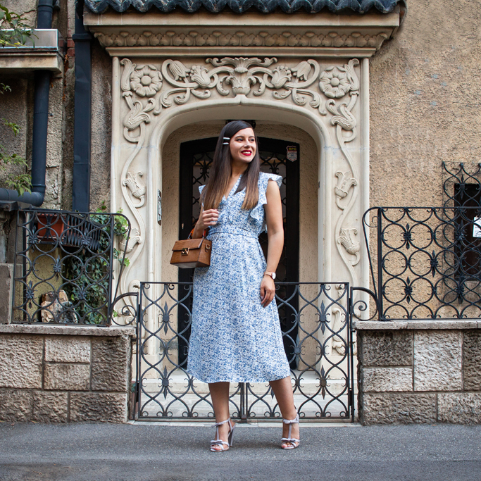 adina nanes the blue midi dress