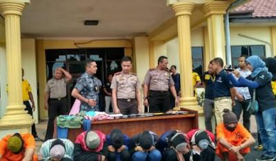 Polres Tamiang Berhasil Menangkap Lima Mucikari Prostitusi Anak