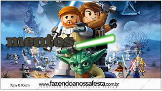 Etiquetas Mentos de Star Wars Lego para imprimir gratis.