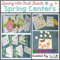 Spring Math and Literacy Centers Through the Season