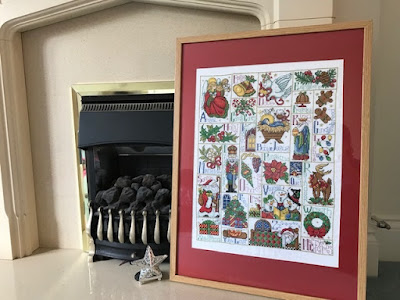 Christmas cross stitch sampler