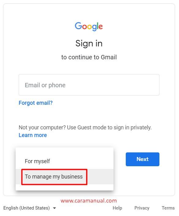 Membuat Akun Email Gmail Terbaru