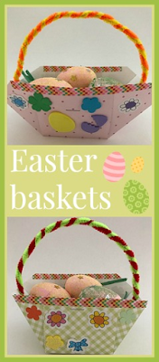 How to make simple patterned Easter baskets