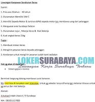 Lowongan Kerja Surabaya Terbaru di UD Mandiri Beras Oktober 2019