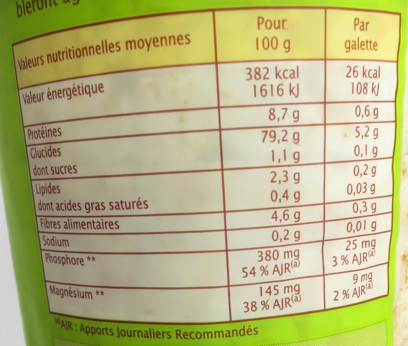 Informação nutricional (clique para aumentar)