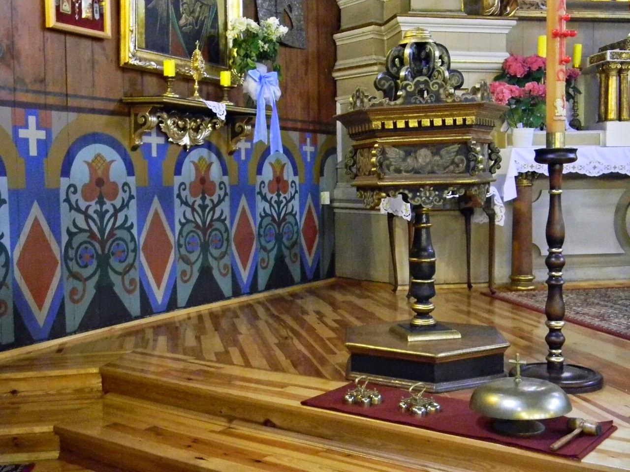 ornamenty roślinne, świecznik ołtarz