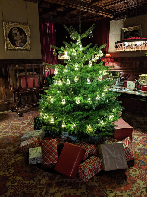 Christmas & Santa at Cragside Review  - Drawing Room Christmas Tree