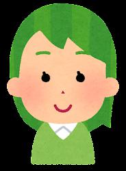 緑の髪の女の子のイラスト
