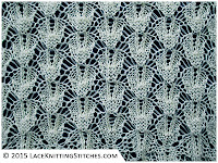 LACE KNITTING #15 | Shaped Diamonds stitch