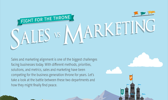 Marketing vs. Sales: Fight for the Throne #infographic
