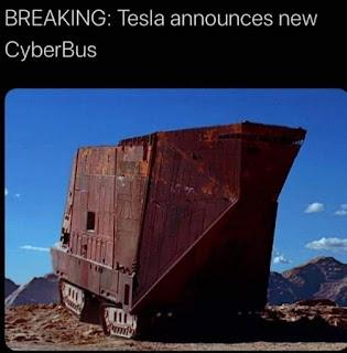 Tesla CyberTruck Meme by @gwinnettmeet on Instagram