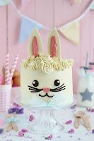 Tarta chocolate blanco Conejito de Pascua