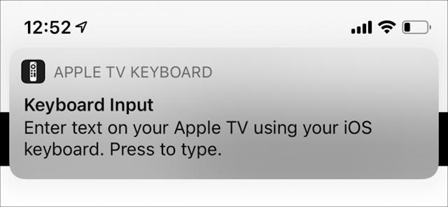 إعلام إدخال Apple TV