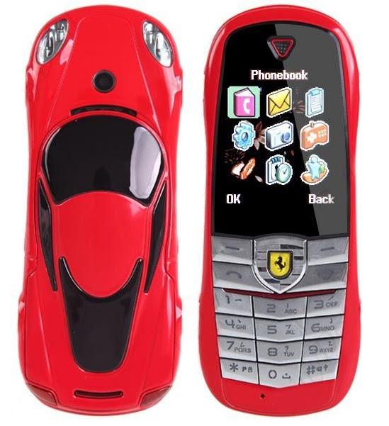 deb48648e3 Celular 2 Chips Modelo Carro Ferrari Com TV vermelho - LOJAS TEM TUDO