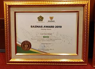 Lembaga Amil Zakat skala Provinsi Kabupaten Kota Dengan Laporan Tahunan Terbaik