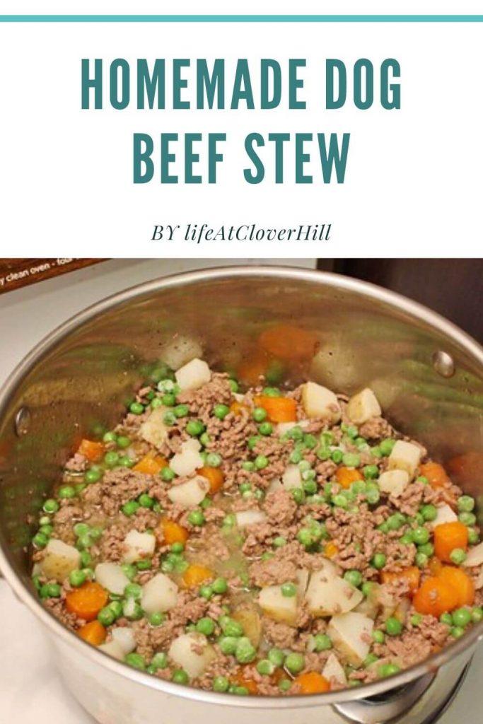 Homemade Dog Beef Stew