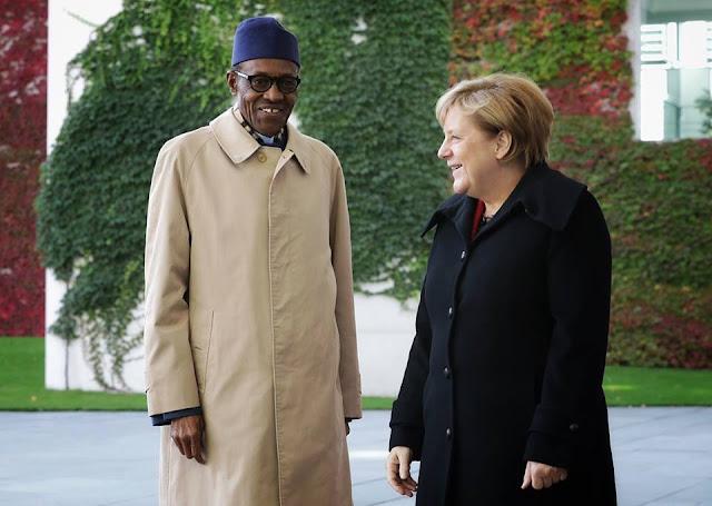 Buhari with German Chancellor Angela Merkel