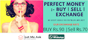 Perfect Money – Deposit, Withdrawal, Buy, Sell, Exchange in India with INR
