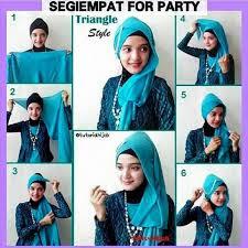 Tutorial Hijab Segi Empat Pesta Praktis