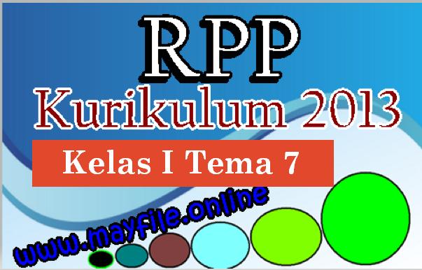 RPP Kelas 1 SD/MI Tema 7 Revisi Semester 2