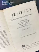 Flatland: A Romance of Many Dimensions, by Edwin A. Abbott, superimposed on Intermediate Physics for Medicine and Biology.