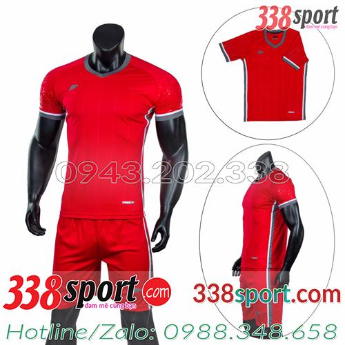 Mẫu Áo Bóng Đá Không Logo Đẹp Puma HB Đỏ