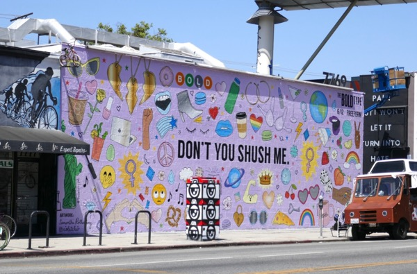 Bold Type season 2 Dont you shush me mural ad