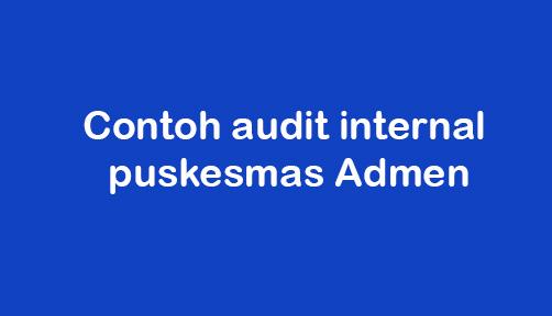 Contoh Audit Internal Puskesmas Admen Idnrepublika Com