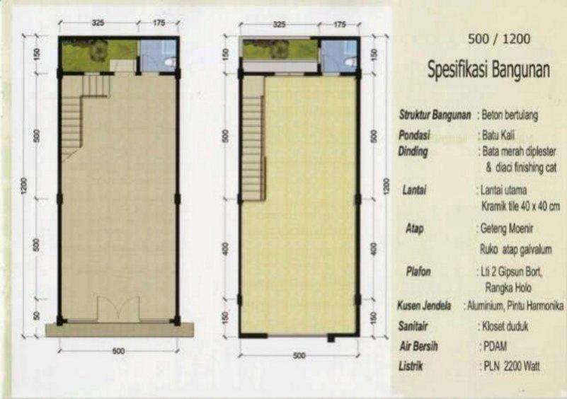 Ide Terbaru 40 Denah Rumah 7x10 Meter
