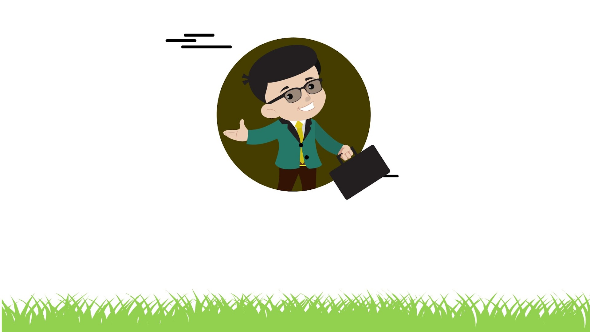 Cartoon businessman Free Background