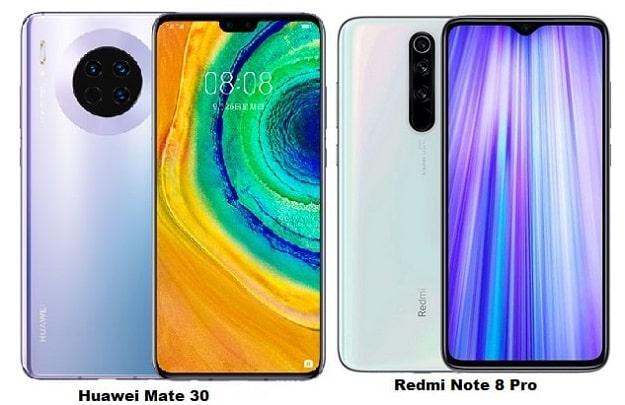 Huawei Mate 30 Vs Xiaomi Redmi Note 8 Pro Specs Comparison