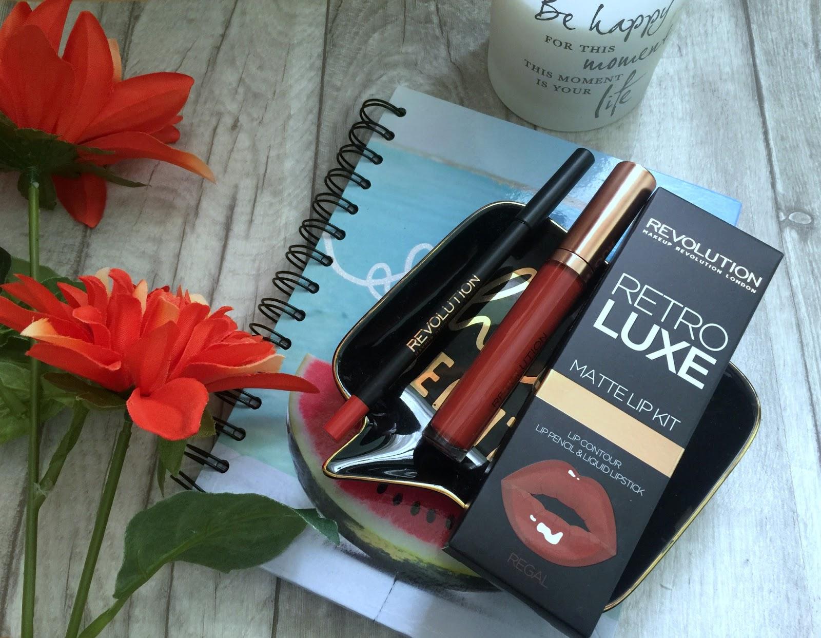 makeup revolution retro luxe lip kits in regal