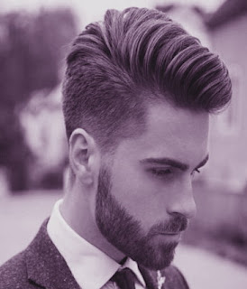Model potongan rambut fade pompadour