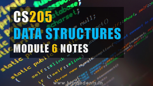 Data Structures CS205 Note-Module 6