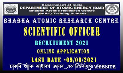 Scientific Officer Recruitment in BARC