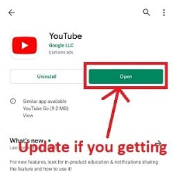 How to update youtube app on phone?