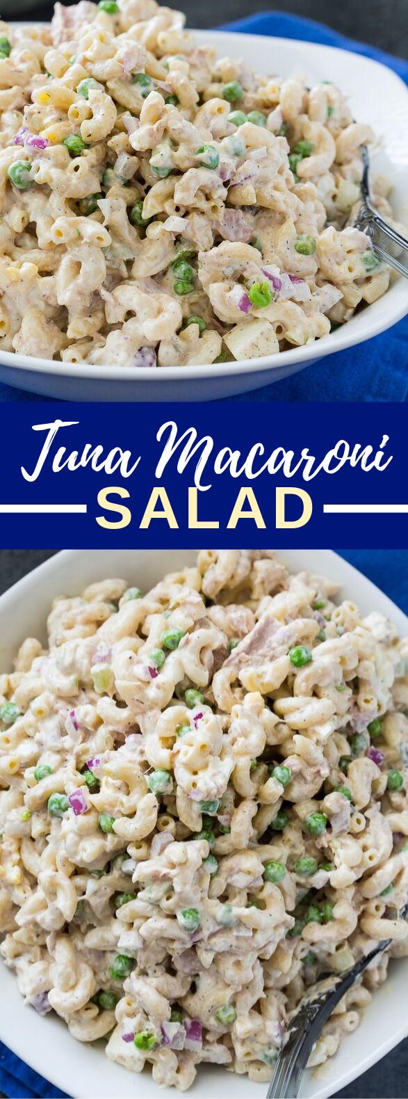 Tuna Macaroni Salad #lunch #holidaypicnic